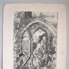 Arte: GRABADO RELIGIOSO REPRESENTANDO LA NATIVIDAD. Lote 97251843