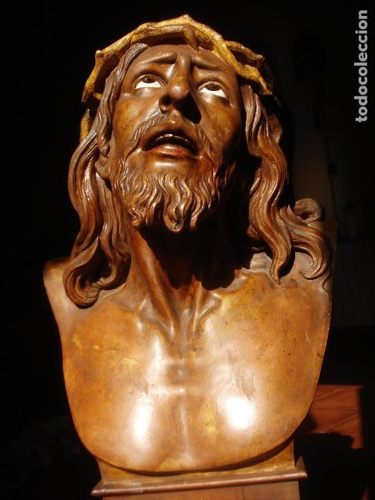 Arte: SANTA AGONIA DE JESUS, CRISTO DE LIMPIAS PASTA DE OLOT 83CM - Foto 3 - 97272943