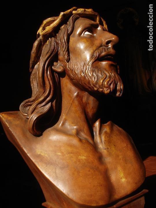 Arte: SANTA AGONIA DE JESUS, CRISTO DE LIMPIAS PASTA DE OLOT 83CM - Foto 4 - 97272943