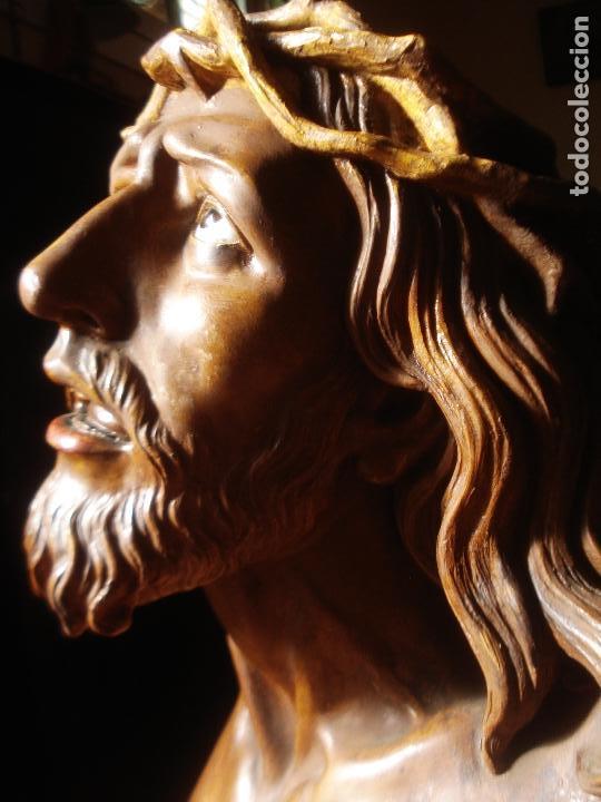 Arte: SANTA AGONIA DE JESUS, CRISTO DE LIMPIAS PASTA DE OLOT 83CM - Foto 6 - 97272943