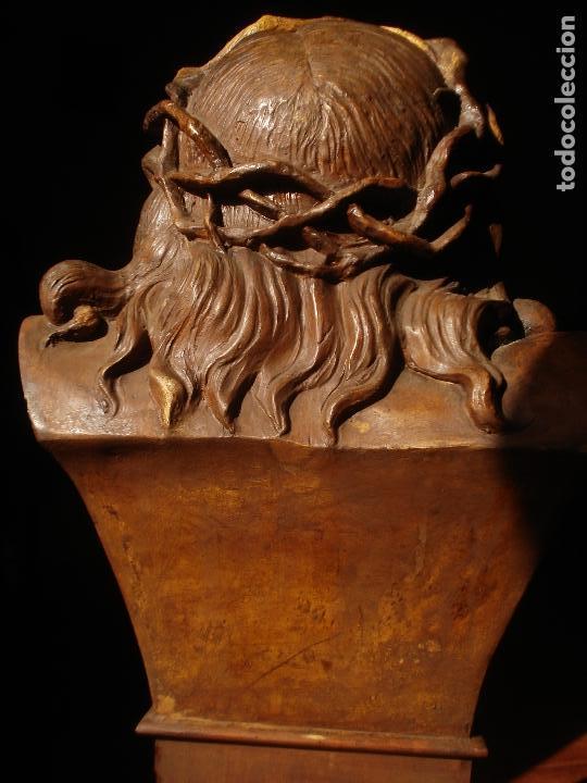 Arte: SANTA AGONIA DE JESUS, CRISTO DE LIMPIAS PASTA DE OLOT 83CM - Foto 9 - 97272943