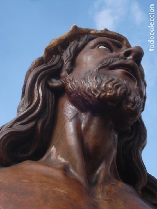 Arte: SANTA AGONIA DE JESUS, CRISTO DE LIMPIAS PASTA DE OLOT 83CM - Foto 10 - 97272943