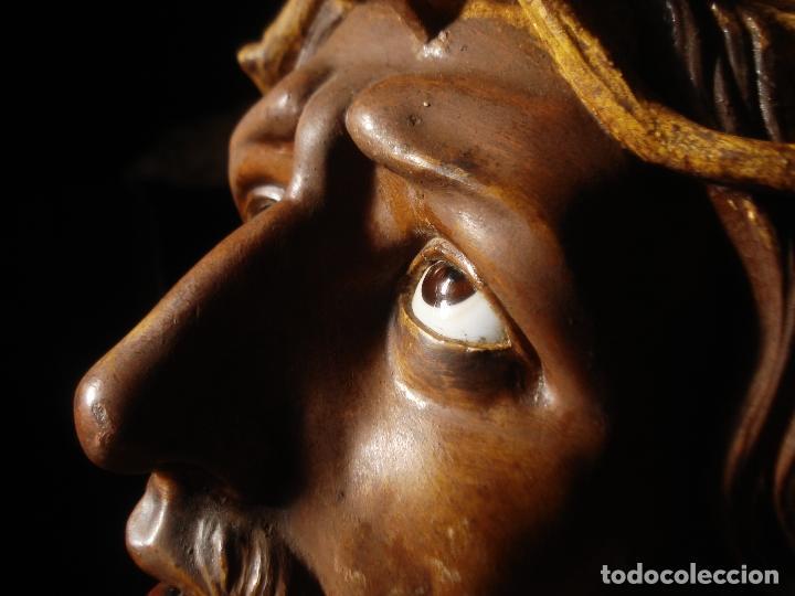 Arte: SANTA AGONIA DE JESUS, CRISTO DE LIMPIAS PASTA DE OLOT 83CM - Foto 11 - 97272943