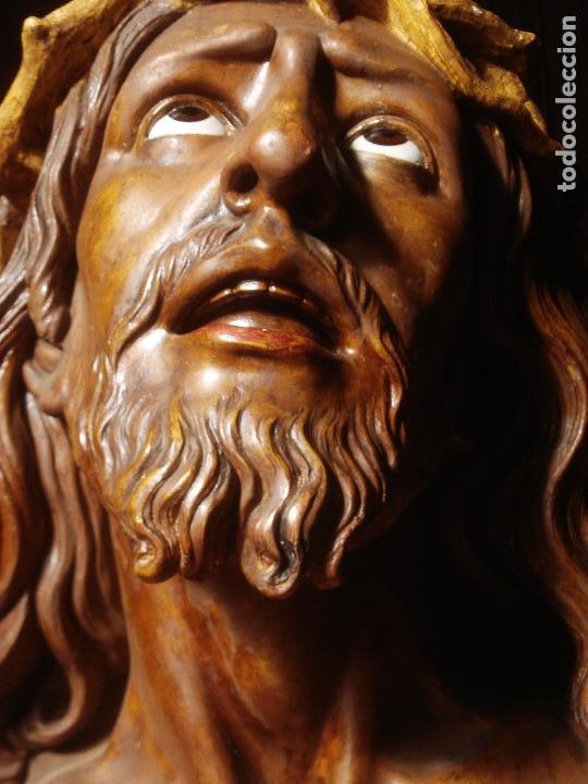 Arte: SANTA AGONIA DE JESUS, CRISTO DE LIMPIAS PASTA DE OLOT 83CM - Foto 12 - 97272943