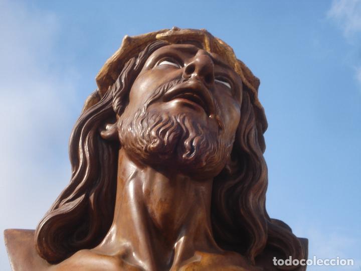 Arte: SANTA AGONIA DE JESUS, CRISTO DE LIMPIAS PASTA DE OLOT 83CM - Foto 13 - 97272943