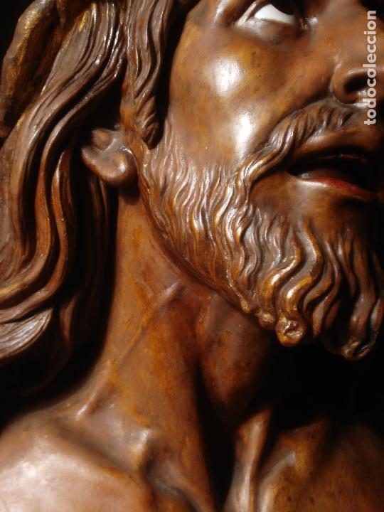 Arte: SANTA AGONIA DE JESUS, CRISTO DE LIMPIAS PASTA DE OLOT 83CM - Foto 14 - 97272943