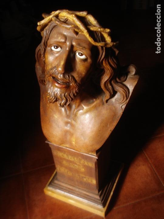 Arte: SANTA AGONIA DE JESUS, CRISTO DE LIMPIAS PASTA DE OLOT 83CM - Foto 15 - 97272943