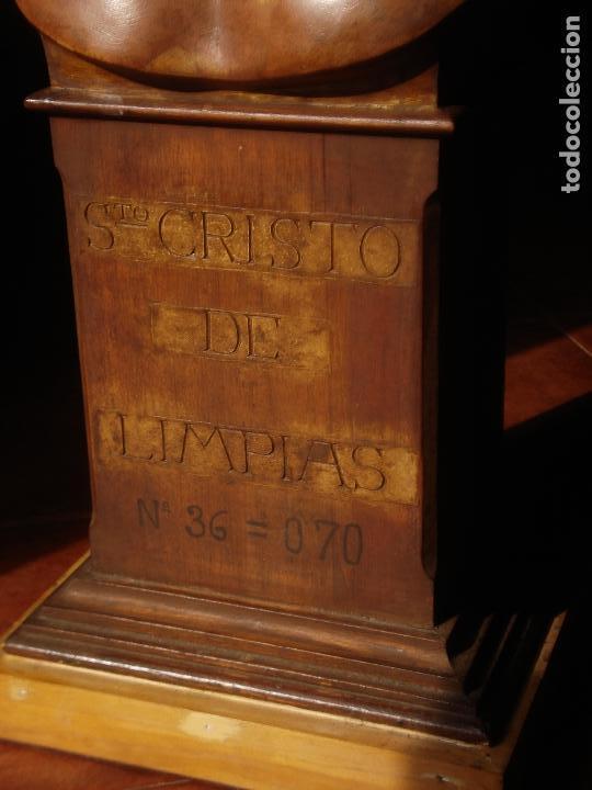 Arte: SANTA AGONIA DE JESUS, CRISTO DE LIMPIAS PASTA DE OLOT 83CM - Foto 16 - 97272943