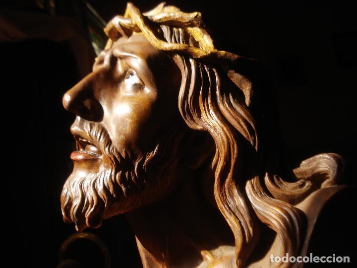 Arte: SANTA AGONIA DE JESUS, CRISTO DE LIMPIAS PASTA DE OLOT 83CM - Foto 17 - 97272943