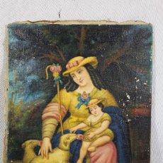 Arte: DIVINA PASTORA - LIENZO OLEO FIRMADO F.UBEDA 1965. Lote 106679491