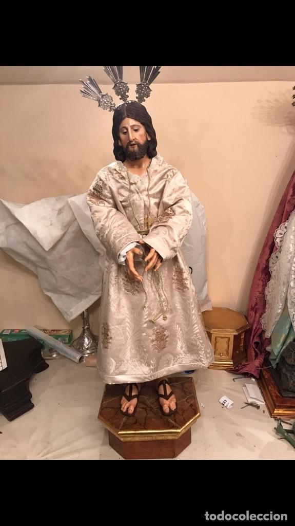 CAUTIVO EN TALLA DE MADERA (Arte - Arte Religioso - Escultura)