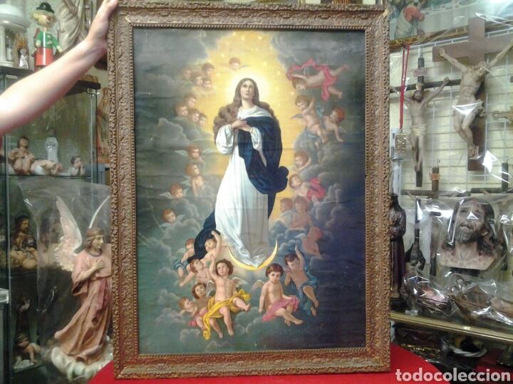 CUADRO MUY ANTIGUO DE LA IMMACULADA CONCEPCION AÑO 1910 (Arte - Arte Religioso - Pintura Religiosa - Otros)