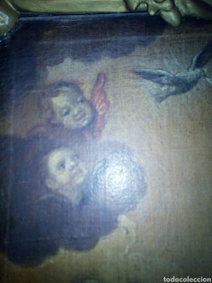 Arte: Inmaculada óleo sobre lienzo siglo XVIII. - Foto 3 - 97484223