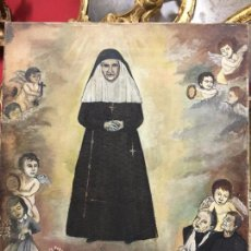 Arte: OLEO SOBRE LIENZO IMAGEN DE SANTA ANGELA DE LA CRUZ SOBRE SEVILLA - MEDIDA 61X50 CM - RELIGIOSO. Lote 97524355