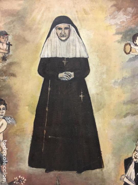 Arte: OLEO SOBRE LIENZO IMAGEN DE SANTA ANGELA DE LA CRUZ SOBRE SEVILLA - MEDIDA 61X50 CM - RELIGIOSO - Foto 2 - 97524355
