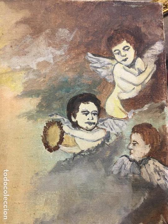 Arte: OLEO SOBRE LIENZO IMAGEN DE SANTA ANGELA DE LA CRUZ SOBRE SEVILLA - MEDIDA 61X50 CM - RELIGIOSO - Foto 4 - 97524355