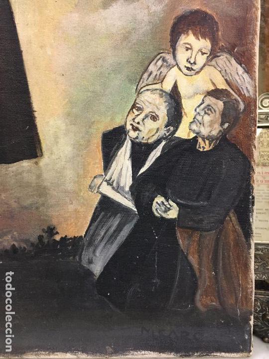 Arte: OLEO SOBRE LIENZO IMAGEN DE SANTA ANGELA DE LA CRUZ SOBRE SEVILLA - MEDIDA 61X50 CM - RELIGIOSO - Foto 5 - 97524355