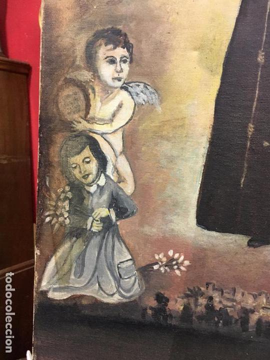 Arte: OLEO SOBRE LIENZO IMAGEN DE SANTA ANGELA DE LA CRUZ SOBRE SEVILLA - MEDIDA 61X50 CM - RELIGIOSO - Foto 7 - 97524355