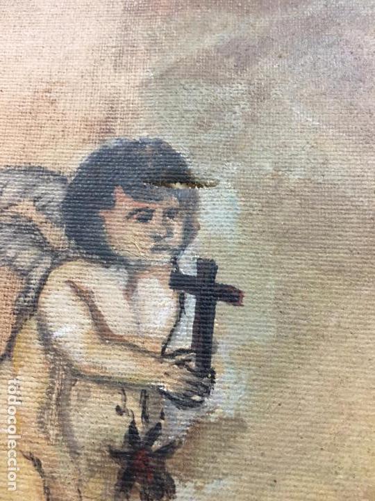 Arte: OLEO SOBRE LIENZO IMAGEN DE SANTA ANGELA DE LA CRUZ SOBRE SEVILLA - MEDIDA 61X50 CM - RELIGIOSO - Foto 9 - 97524355