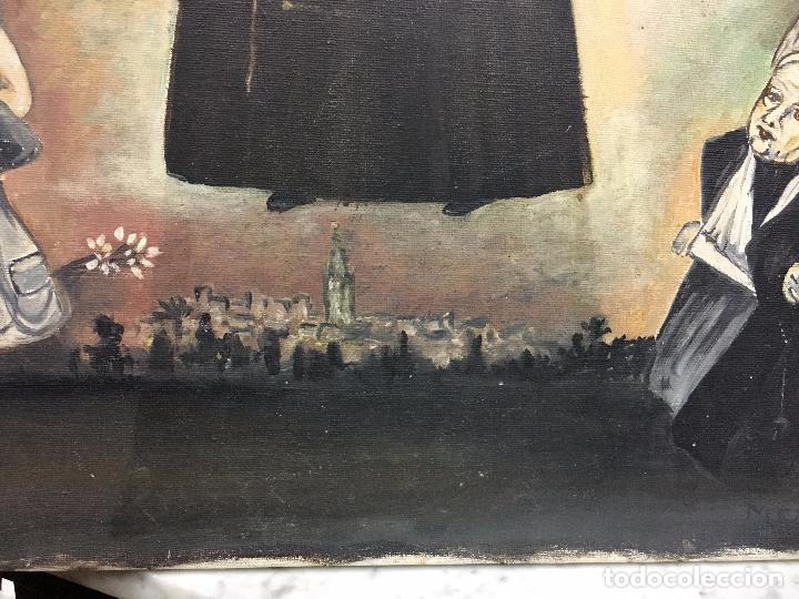 Arte: OLEO SOBRE LIENZO IMAGEN DE SANTA ANGELA DE LA CRUZ SOBRE SEVILLA - MEDIDA 61X50 CM - RELIGIOSO - Foto 10 - 97524355