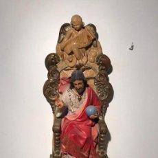 Arte: SAGRADO CORAZON DE JESUS ENTRONIZADO DE ESTUCO DE PARED, 45CM.. Lote 97658323