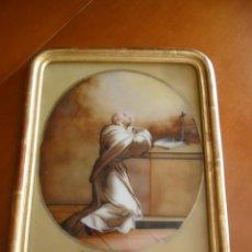 Arte: PINTURA SOBRE VIDRIO - CRISTAL - SIGLO XVIII - SAN BERNARDO - ENMARCADO. Lote 97662075