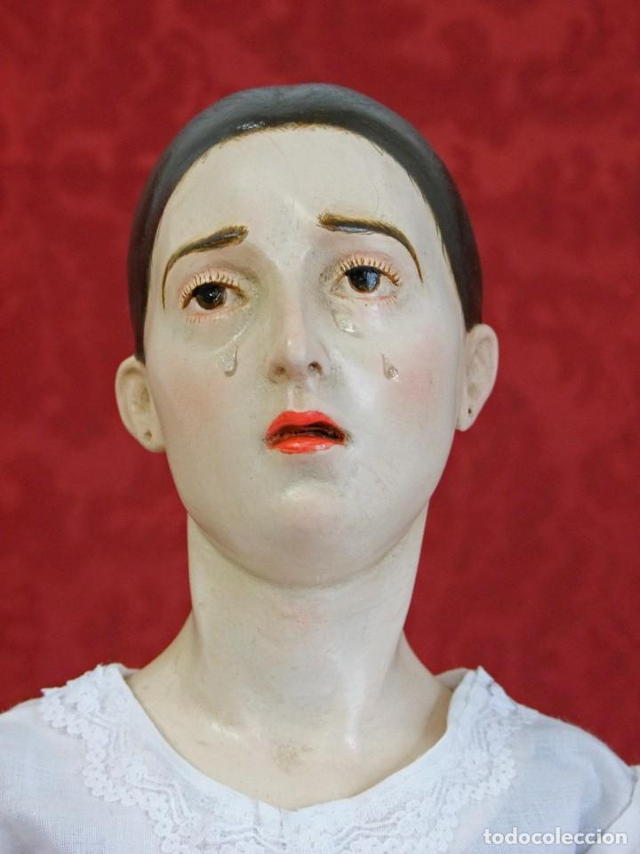 Arte: Virgen dolorosa de vestir, de candelero - Foto 2 - 97723459
