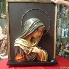 Arte: RETABLO ANTIGUO DE LA VIRGEN MARIA !! IMPRESIONANTE ¡¡ ESCULTURA. Lote 97805506