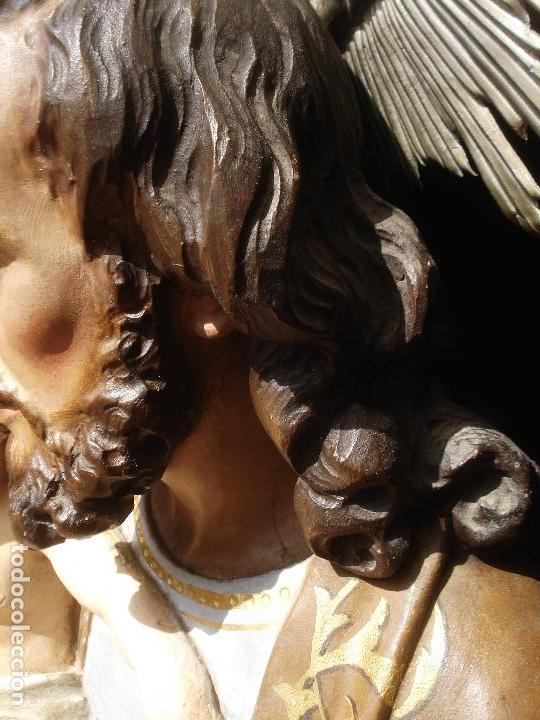 Arte: SXIX GLORIA DEL PATRIARCA SAN JOSE CON NIÑO TALLA DE MADERA GRANDES MEDIDAS - Foto 3 - 97841843