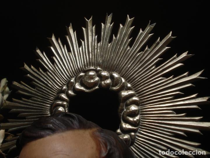 Arte: SXIX GLORIA DEL PATRIARCA SAN JOSE CON NIÑO TALLA DE MADERA GRANDES MEDIDAS - Foto 6 - 97841843