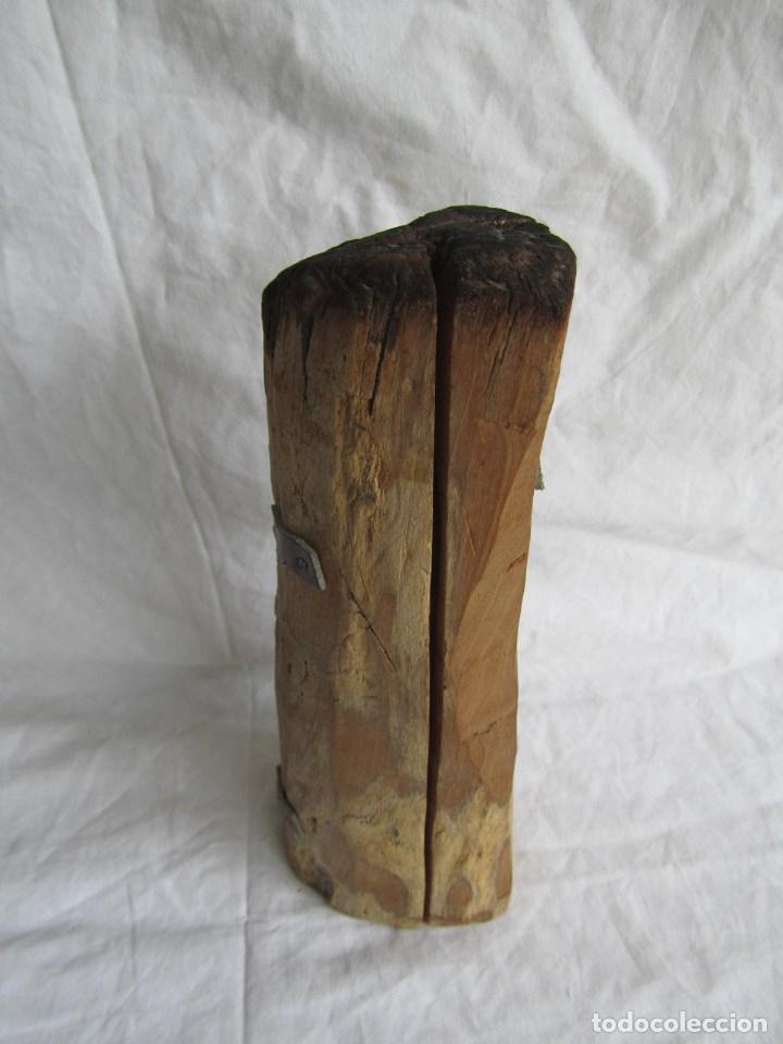 Arte: Tríptico fabricado en una sóla pieza de madera tallada - Foto 7 - 97866711