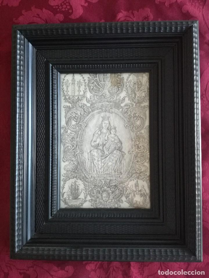GRABADO RELIGIOSO SIGLO XVIII NSTRA SRA GRANADA SEVILLA (Arte - Arte Religioso - Grabados)