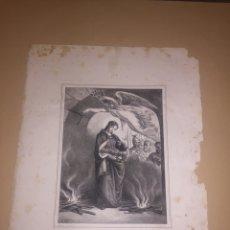 Arte: ESTAMPA LITOGRAFÍA SIGLO XIX SANTA CRISTINA. Lote 98081692
