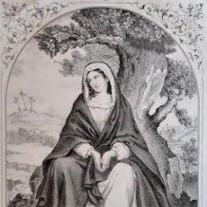 Arte: NTRA. SRA. DE LA SOLEDAD. LITOGRAFÍA ORIGINAL DE SANTIGOSA (COLECCIONES RELIGIOSAS DE 1853). Lote 98205167