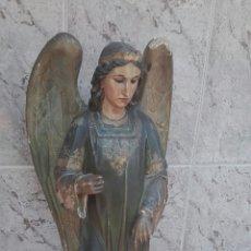 Arte: PRECIOSO ÁNGEL DE ALTAR XIX MADERA POLICROMADA. Lote 98211339