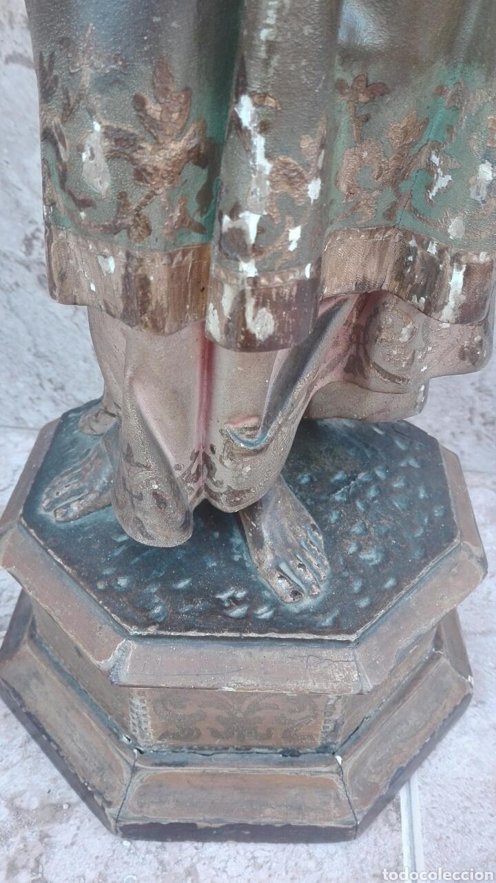 Arte: Precioso Ángel de Altar XIX Madera Policromada - Foto 22 - 98211339