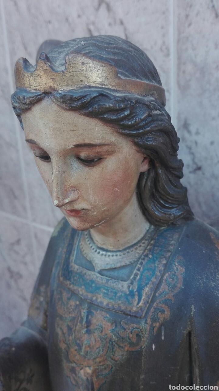 Arte: Precioso Ángel de Altar XIX Madera Policromada - Foto 23 - 98211339