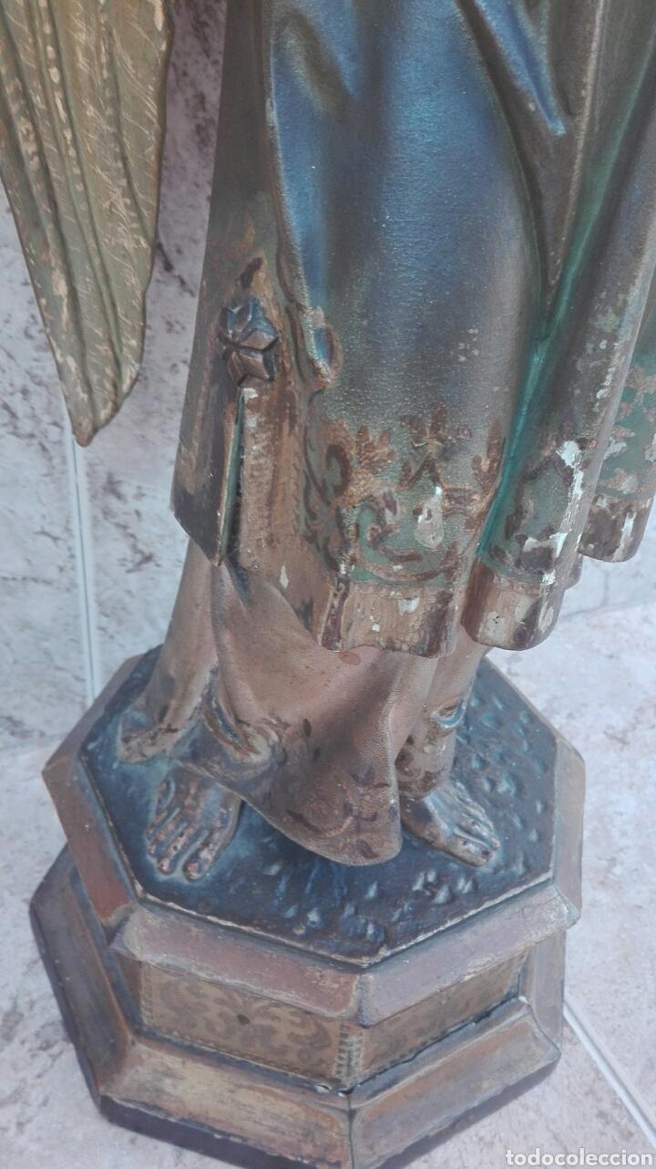 Arte: Precioso Ángel de Altar XIX Madera Policromada - Foto 26 - 98211339