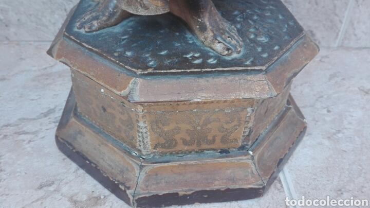 Arte: Precioso Ángel de Altar XIX Madera Policromada - Foto 27 - 98211339