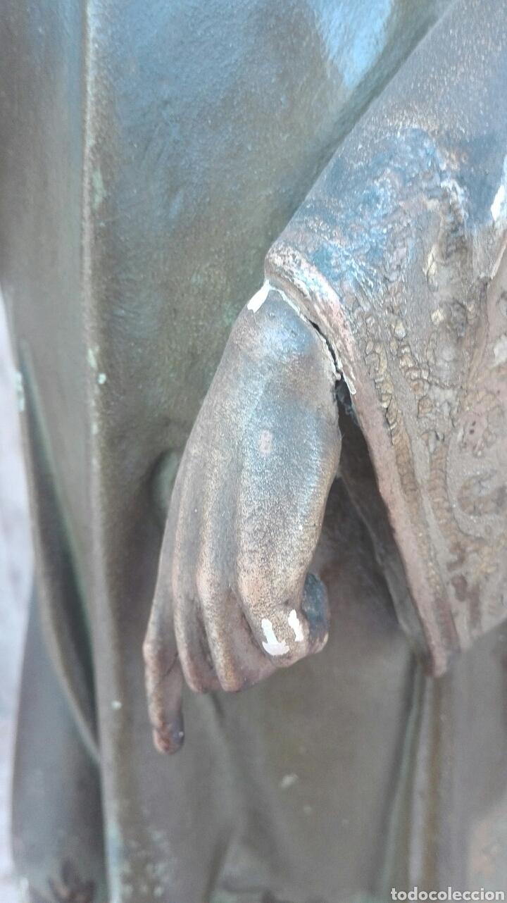 Arte: Precioso Ángel de Altar XIX Madera Policromada - Foto 32 - 98211339