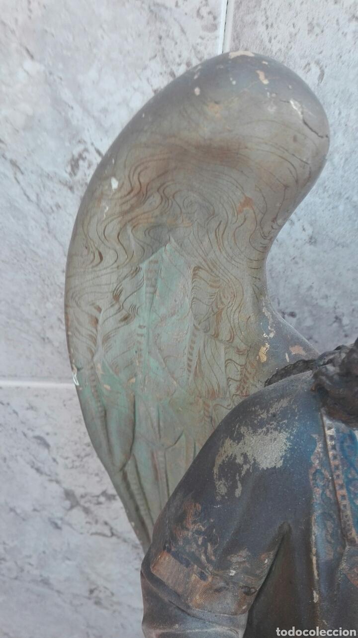 Arte: Precioso Ángel de Altar XIX Madera Policromada - Foto 36 - 98211339