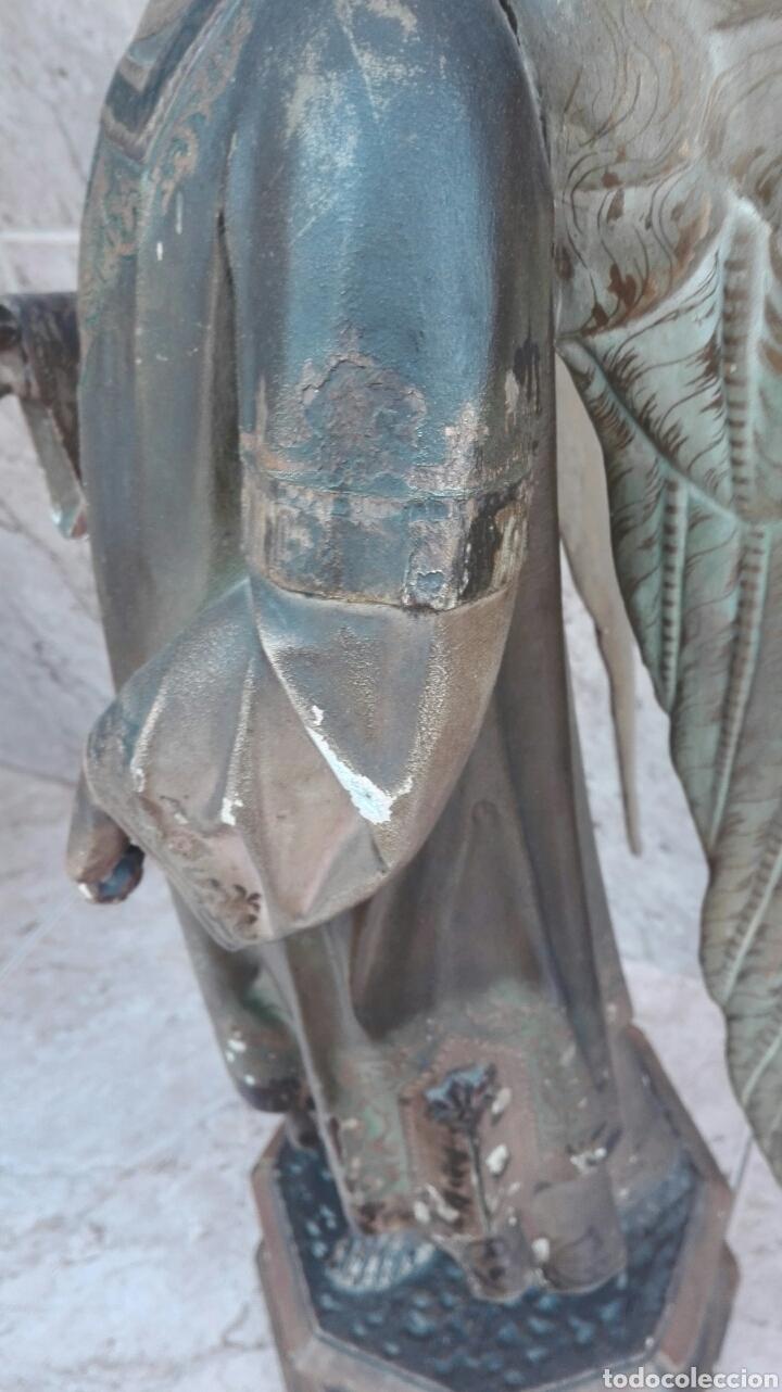 Arte: Precioso Ángel de Altar XIX Madera Policromada - Foto 37 - 98211339