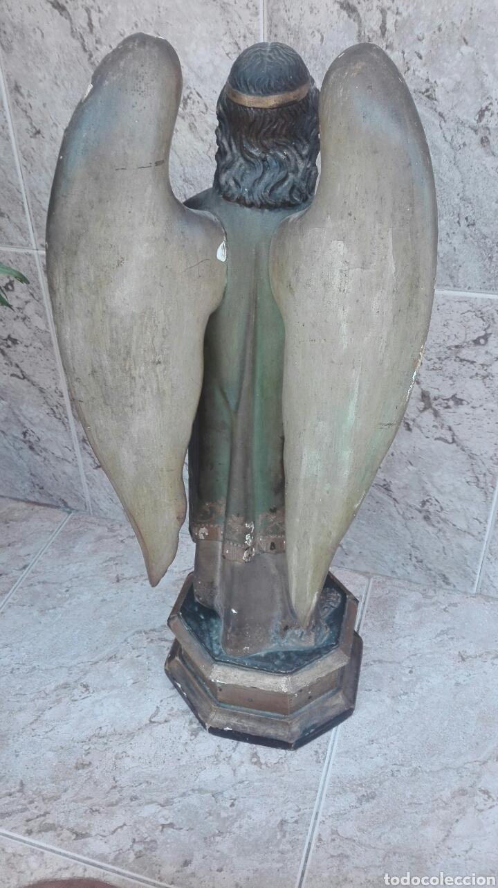 Arte: Precioso Ángel de Altar XIX Madera Policromada - Foto 39 - 98211339
