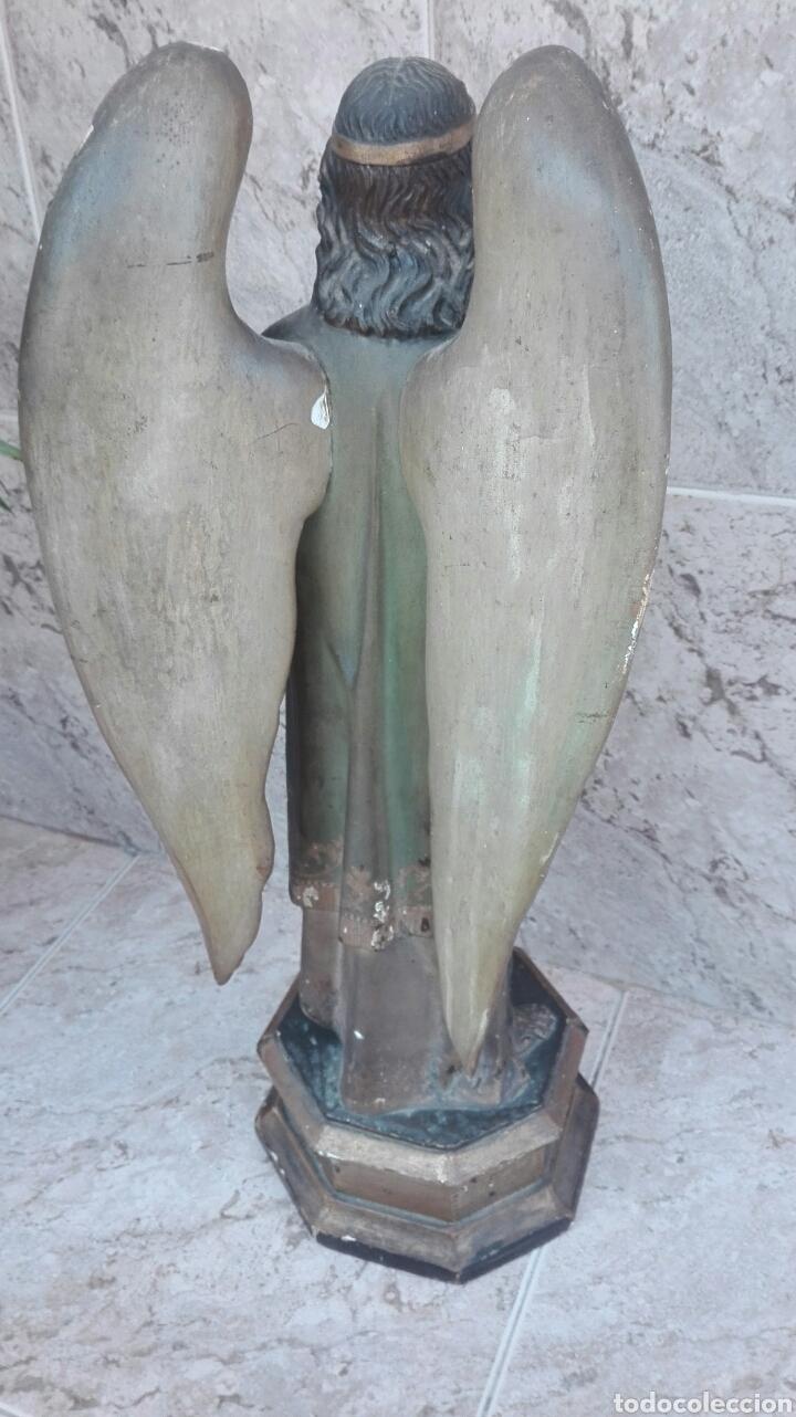 Arte: Precioso Ángel de Altar XIX Madera Policromada - Foto 40 - 98211339