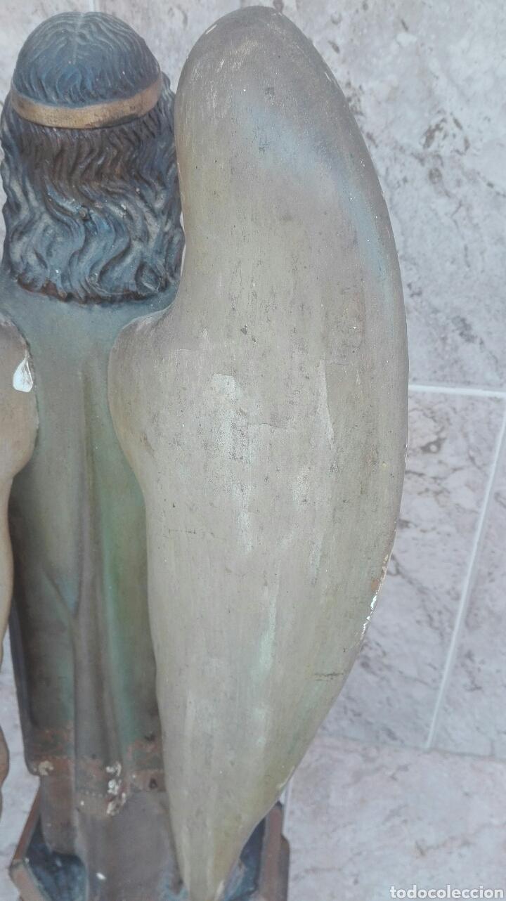 Arte: Precioso Ángel de Altar XIX Madera Policromada - Foto 42 - 98211339