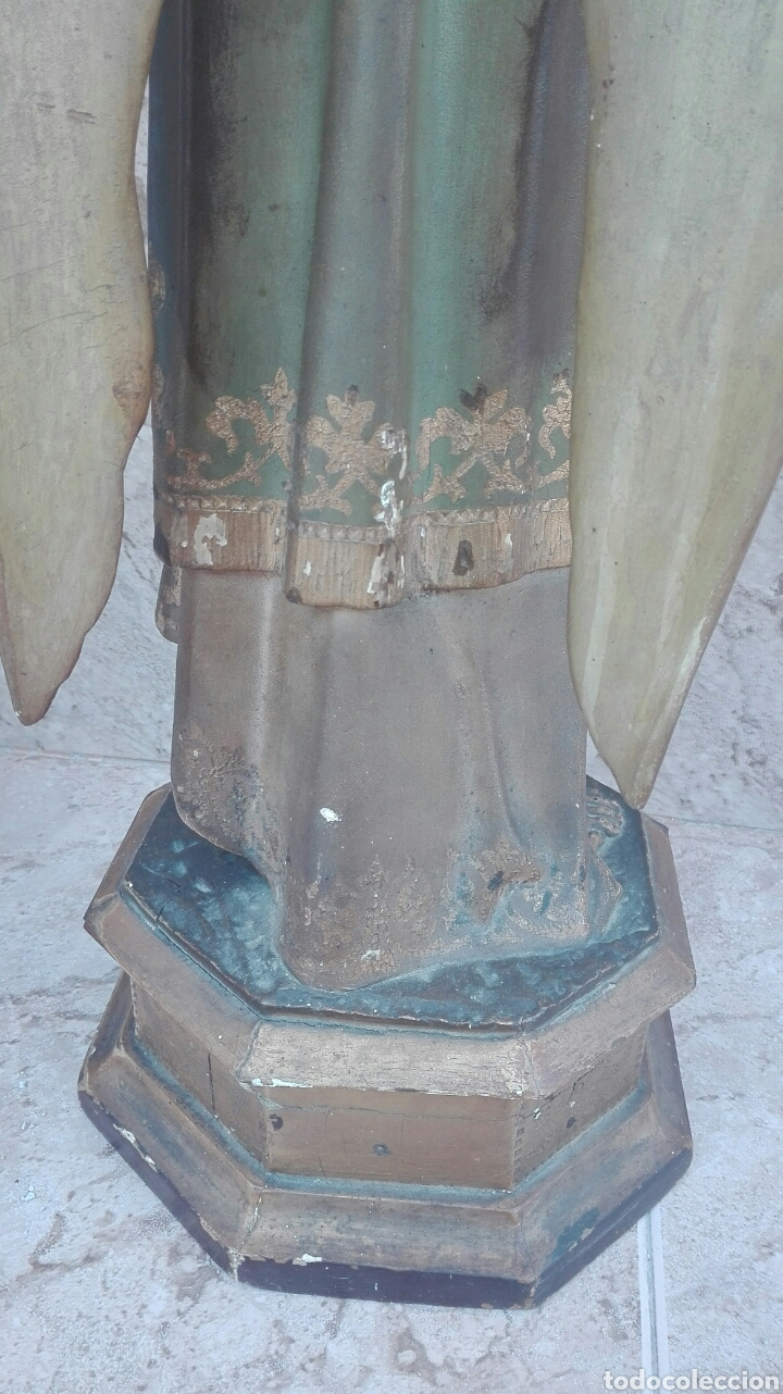 Arte: Precioso Ángel de Altar XIX Madera Policromada - Foto 44 - 98211339