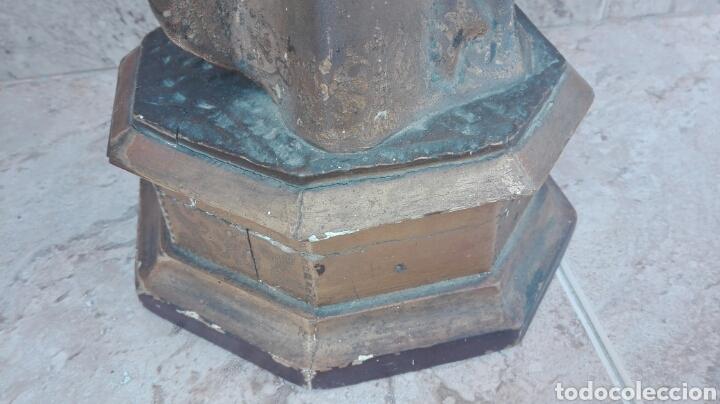Arte: Precioso Ángel de Altar XIX Madera Policromada - Foto 47 - 98211339