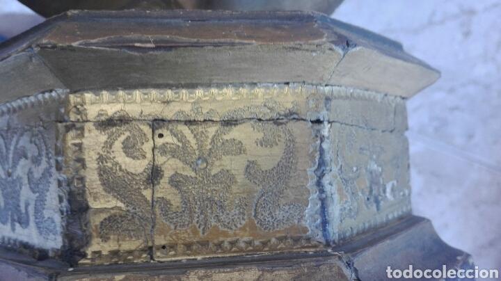 Arte: Precioso Ángel de Altar XIX Madera Policromada - Foto 52 - 98211339