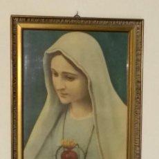 Arte: LÁMINA ENMARCADA DE LA VIRGEN DOLOROSA O DE LOS DOLORES.AÑOS '50. . Lote 98512919