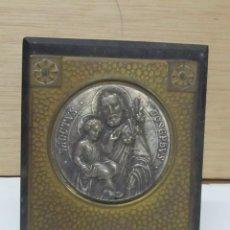 Arte: MARCO CON IMAGEN RELIGIOSA PLATEADA - SANCTUS JOSEPHUS. Lote 98560383